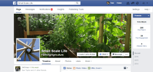 The Small Scale Gardening Facebook Page is now Small Scale Life Facebook Page.