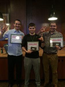 Fitness Challenge Winners: Danny Domres, Jon Inselman and David Taylor - 2/25/16