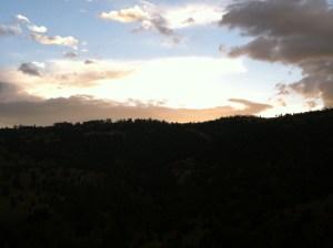 Colorado Springs; Colorado; rain; mountains; mindset