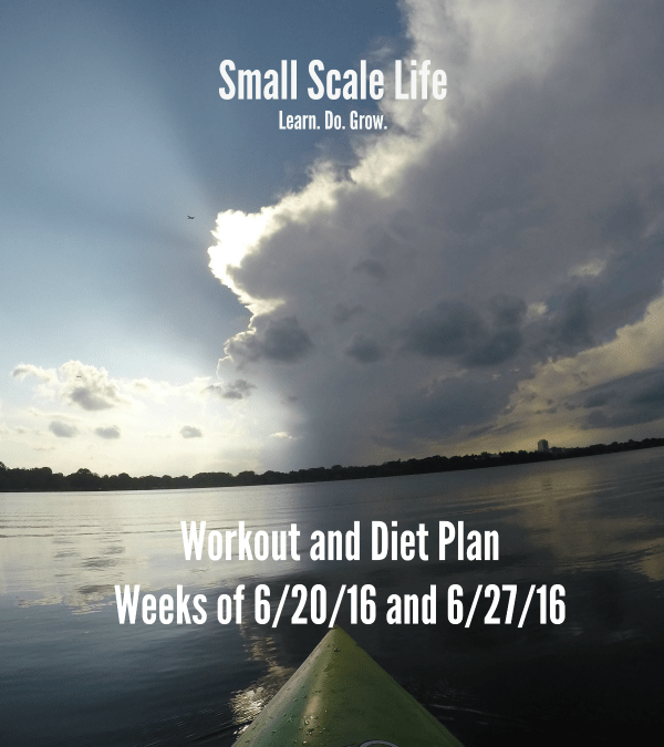 Workout Plan – Weeks of 6/20/16 and 6/27/16