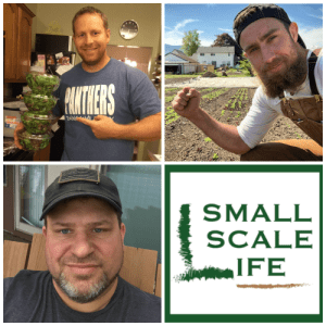Urban Farming Advice, Urban Farming Best Practices, Seeds, Seedlings, Homestead, Marketing, Watering Plants, Selling Produce, Dallas Half Acre Farm, Favourful Farms, Scott Hebert, Michael Bell, Small Scale Life Podcast, Lifestyle Business