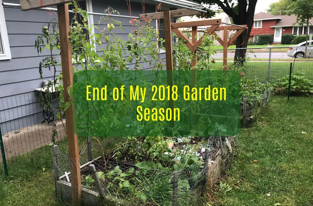 First Frost: End of My 2018 Garden Season