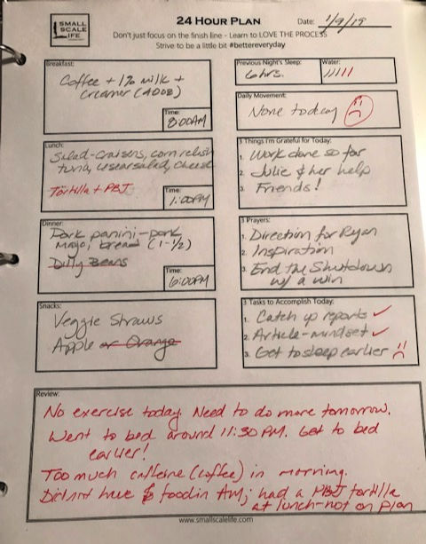 Food Journaling, Weekend, Renew You, Health and Fitness, 24 Hour Plan