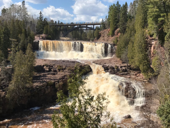 Gooseberry Falls, waterfall, vacation