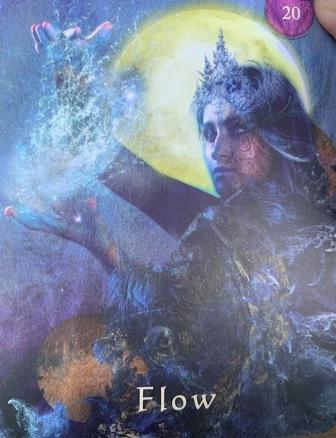 Flow; Mystic Shaman Oracle Card, tarot card; Oracle Cards
