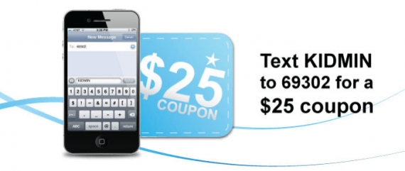 Kidmin Text and $25 For Free
