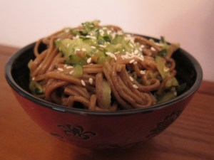 Cold Cucumber Buckwheat Noodles