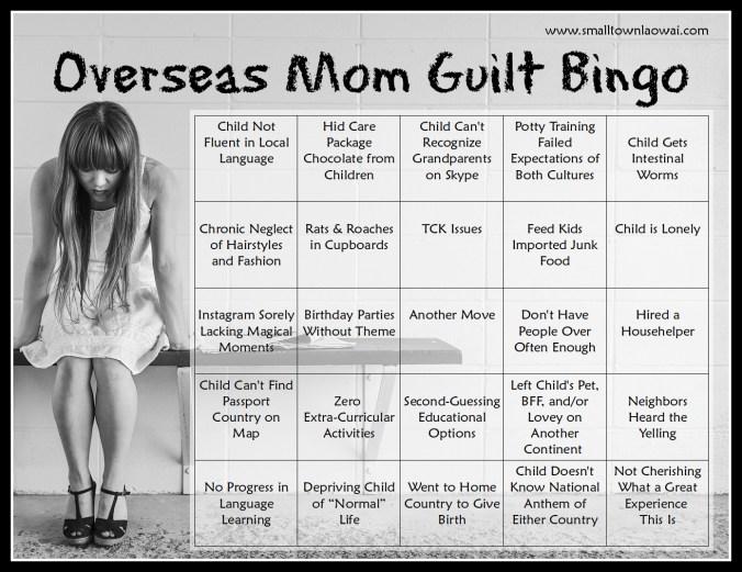Overseas Mom Guilt Bingo