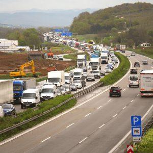 traffic jam at the highway