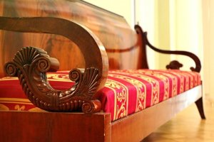 An antique sofa