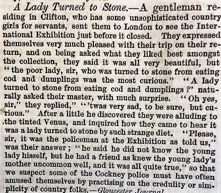 A Lady Turned to Stone