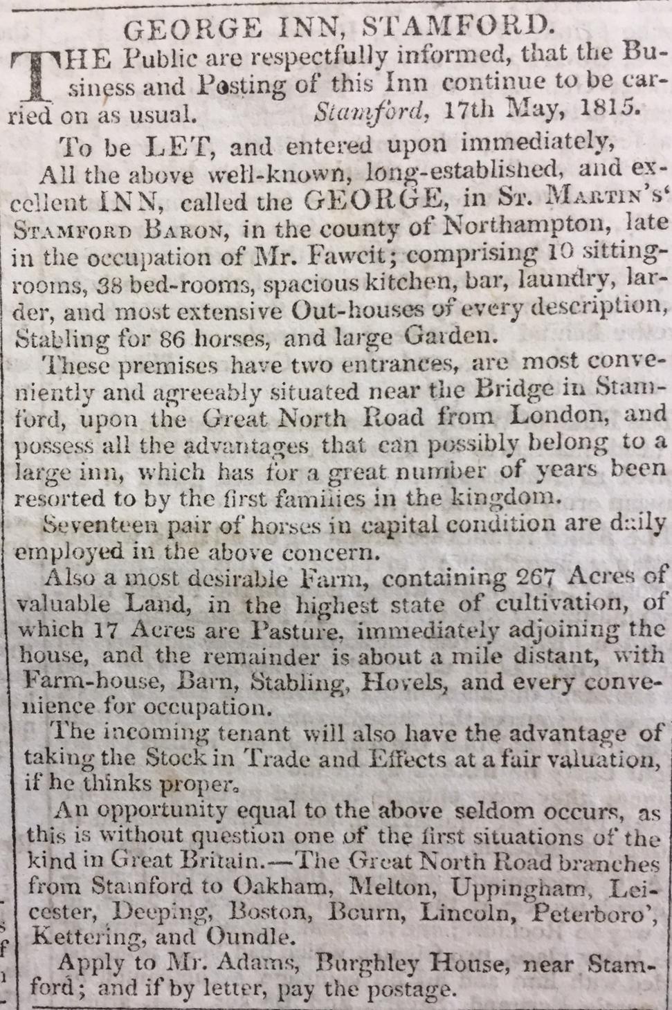 George Inn, Stamford