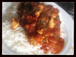 Chicken saag cb style