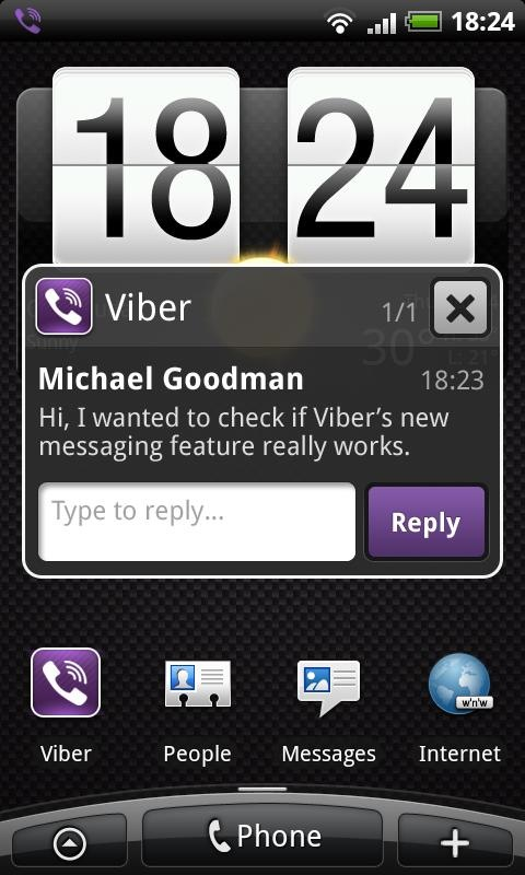 viber android SMS