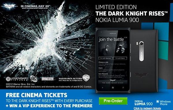 nokia lumia 900 the dark knight rises