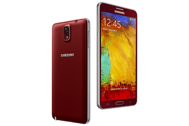 Galaxy Note tres Merlot Red