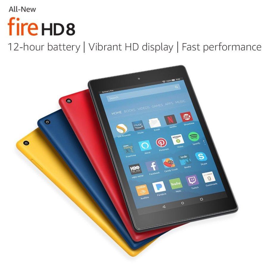 Amazon Fire HD 8 con especificaciones renovadas.