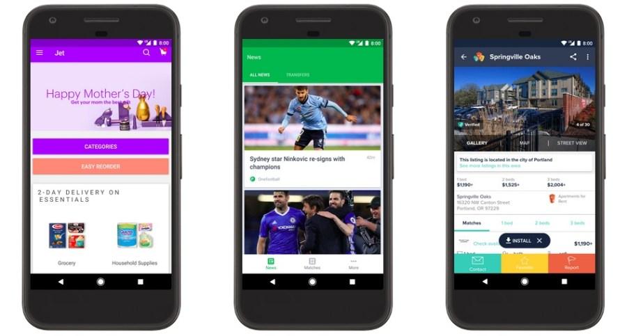 Instant Apps en Android disponible
