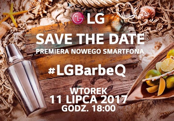 Invitación escrita en polaco para un evento de LG el 11 de julio.