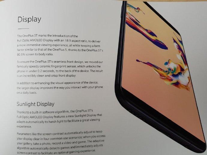 Primera de cuatro fotografías que detallarían las características del OnePlus 5T.