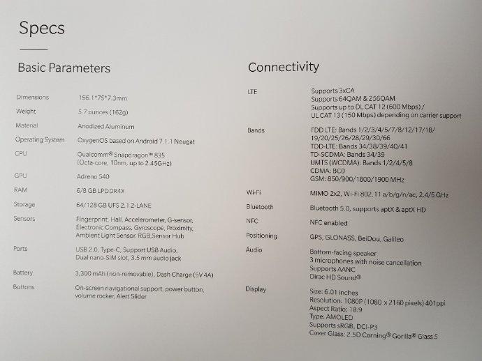 Última de cuatro fotografías que detallarían las características del OnePlus 5T.