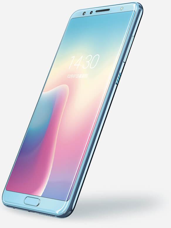"""Render oficial del frente del Huawei Nova 2S color """"Light Blue""""."""