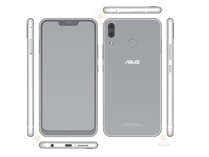 ASUS ZenFone 5 filtrado con notch a la iphone X