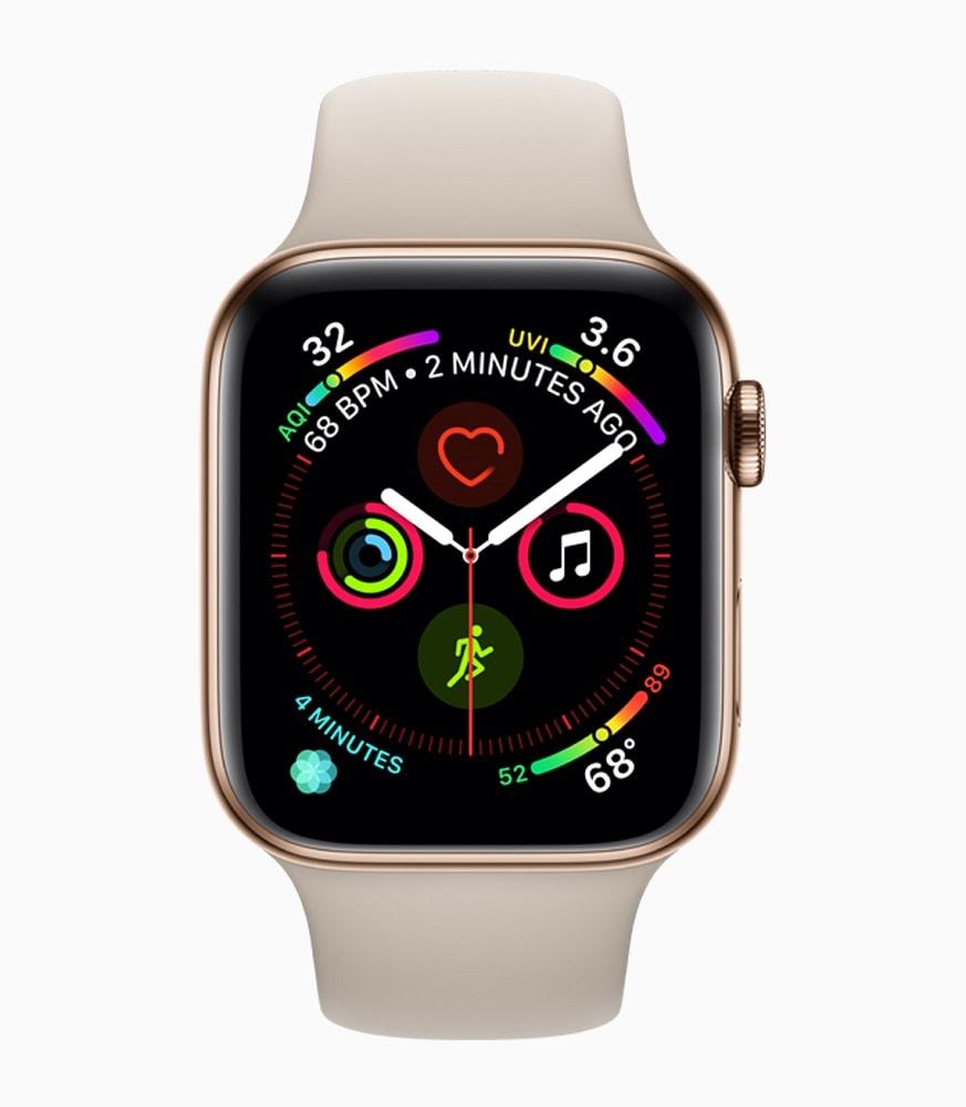 Render oficial de la nueva interfaz de la Apple Watch Series 4.