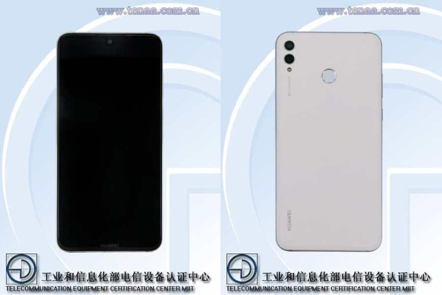 Render del frente y dorso del Huawei ARS-TL00 certificado por TENAA.