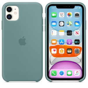 Husa de silicon originala Apple iPhone 11 Cactus