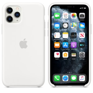 Husa de silicion originala Apple iPhone 11 Pro White
