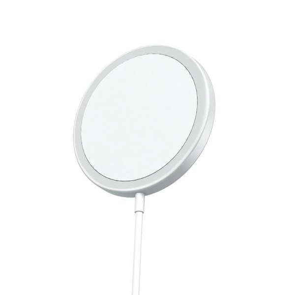 Incarcator magnetic wireless SmartGSM®, Magsafe pentru Apple iPhone 12/12 Pro/12 Pro Max/12 Mini, Alb