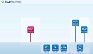 Die App von RWE-SmartHome