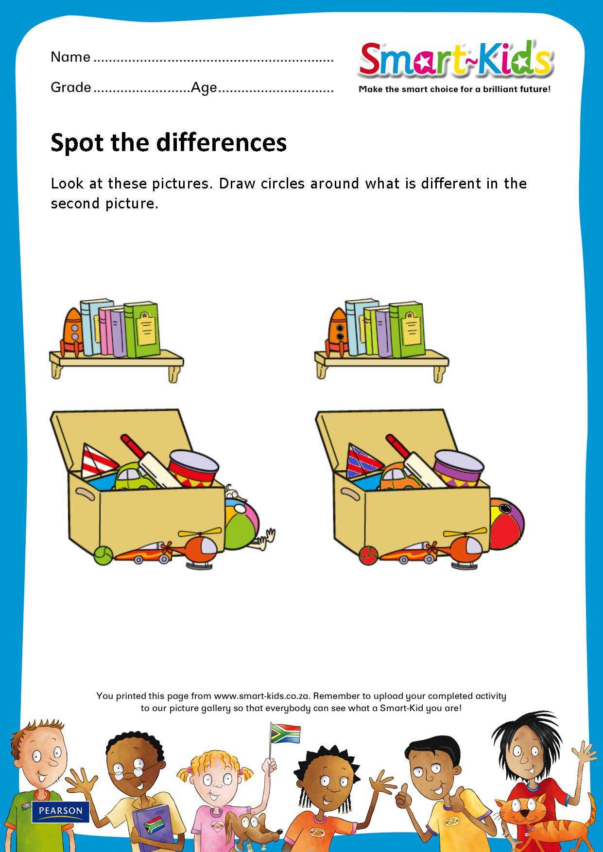 Sk Worksheet Spot The Differences