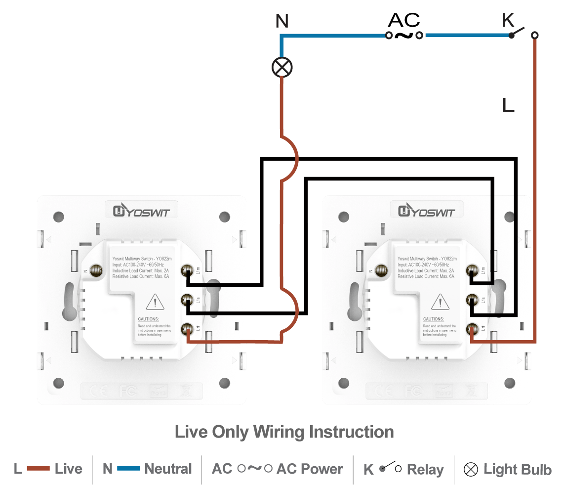 2 Way Switch Wiring 1 Light