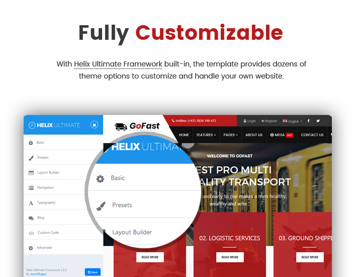 Sj GoFast - Professional Transport & Logistics Joomla Template