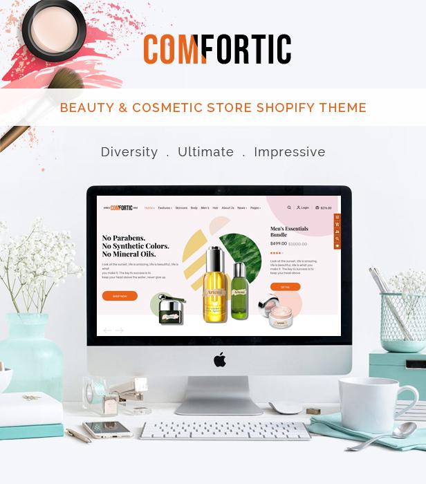 Comfortic - Elegant Beauty & Cosmetic Shopify Theme