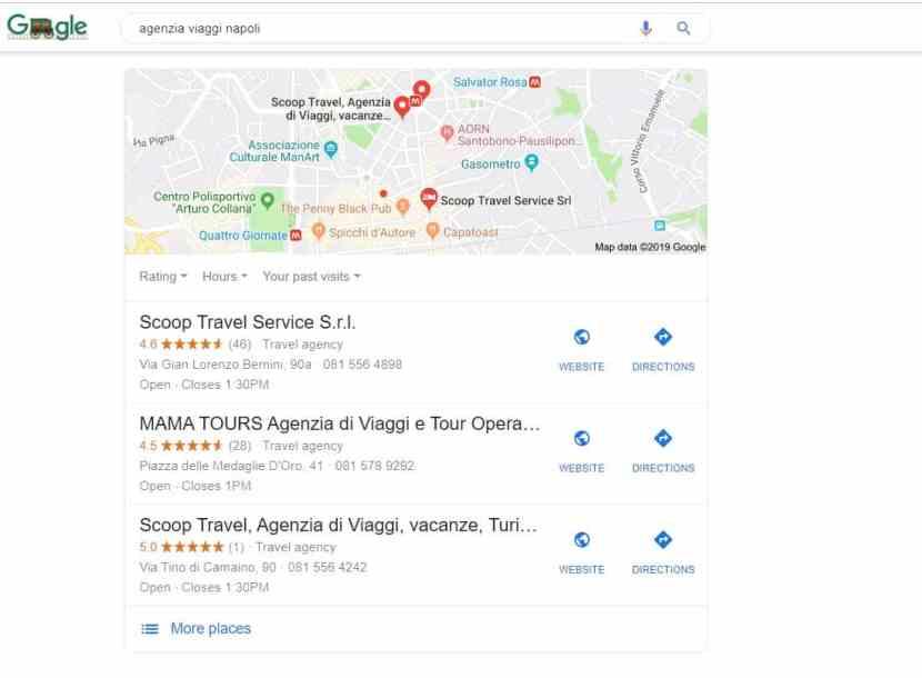 risultati ricerca Google