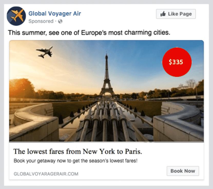 Facebook Ads per i viaggi