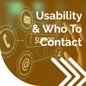 Usability & Who To Contact - Client Zone
