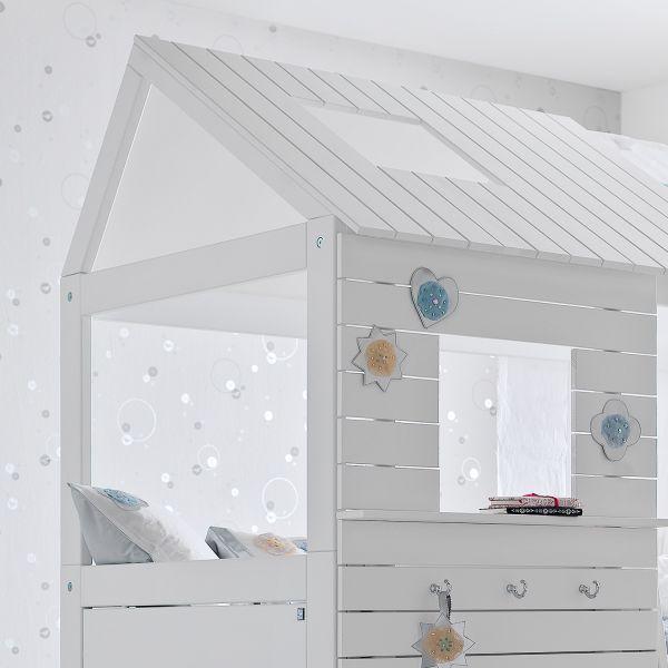 Dettagli Su Letto A Soppalco Per Bambini In Legno Silversparkle Cameretta Design Scandinavo