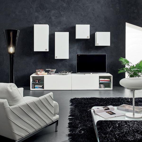 Eglemtek parete attrezzata swiss mobile soggiorno tv con mensola salotto legno base televisione sala da pranzo design moderno 200 x 41 x 46. Mobili Soggiorno Moderni Nikolai