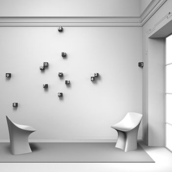 Orologio da parete dal design moderno, collezione adam. Orologio A Cubetti Da Parete Nero O Bianco Rnd Time