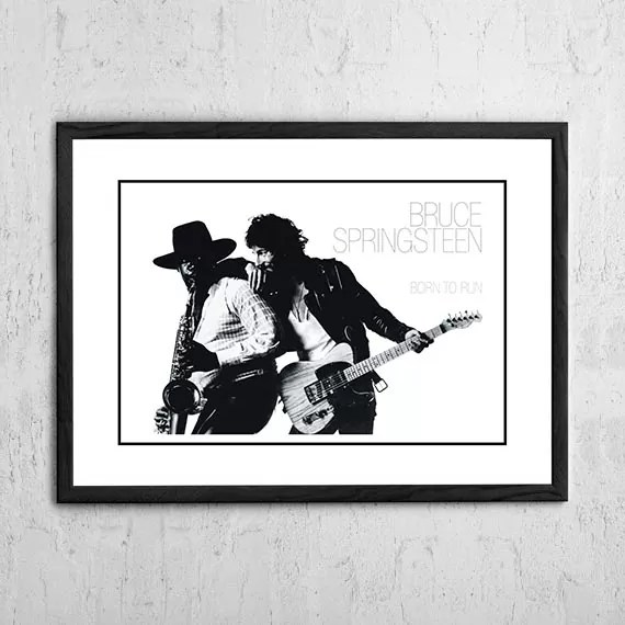 bruce springsteen born to run in store poster 1975