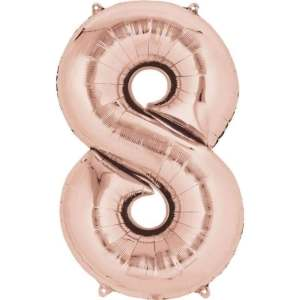 Balon folie cifra 8 rose gold 100 cm