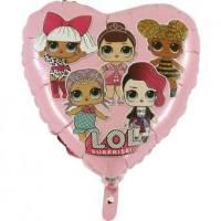 Balon Folie inima LOL, 45 cm
