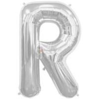 balon-folie-litera-r-argintiu
