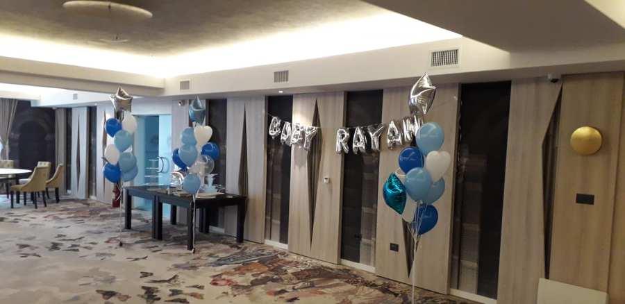 Decorare Botez Baby Rayan - www.smartbalon.ro