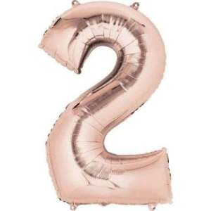 Balon folie cifra 2 rose gold 100 cm