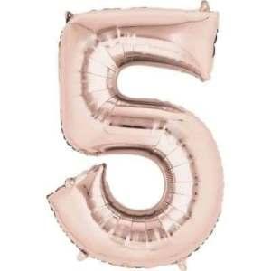 Balon folie cifra 5 rose gold 100 cm